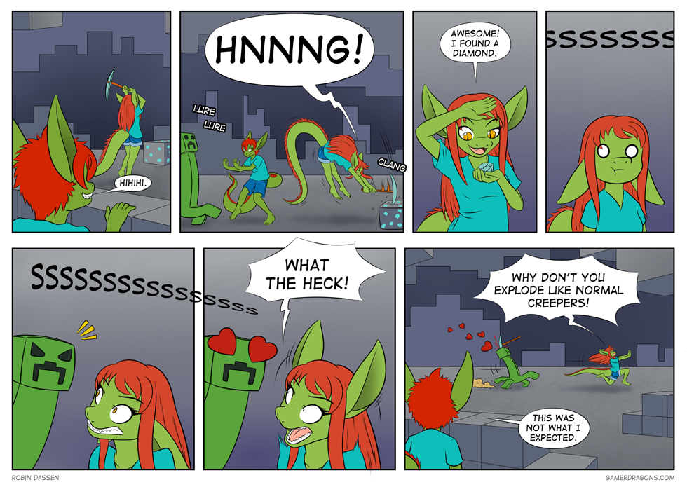 Gamer Dragon comic creepy romance