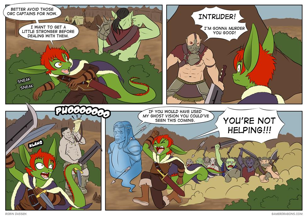 Gamer Dragon comic Shadow of Mordor
