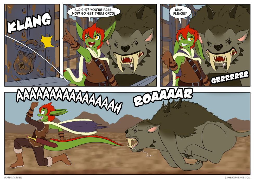 Gamer Dragon comic Shadow of Mordor 2