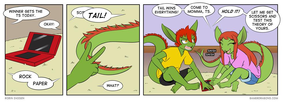 Gamer Dragon comic Rock Paper Tail
