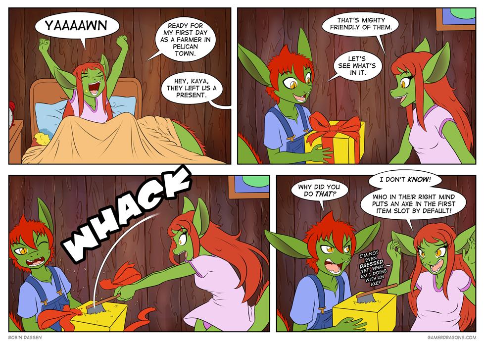 Gamer Dragon comic Stardew_Valley_1