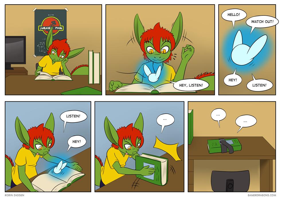 Gamer Dragon comic Navi