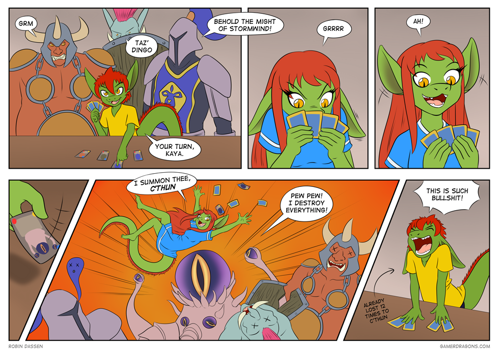 Gamer Dragon comic Hearthstone
